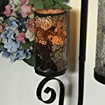 """GiveU Mosaic Flameless Pillar Led Wax Candle with Timer, 3 x 6"""", for Home Party & Festival Celebration"""