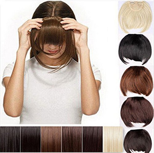Harle(TM) Clearance Sale Clip In Bangs Fringe Hair Extensions Front on Brown Black Blonde -