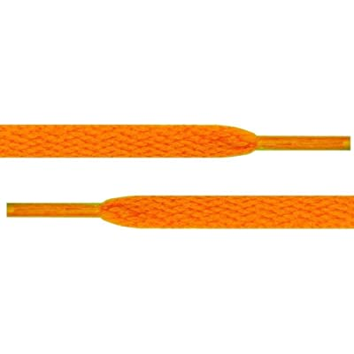 "45"" Neon Orange 5/16 Flat Shoelace For All WoMens Canvas Shoes"