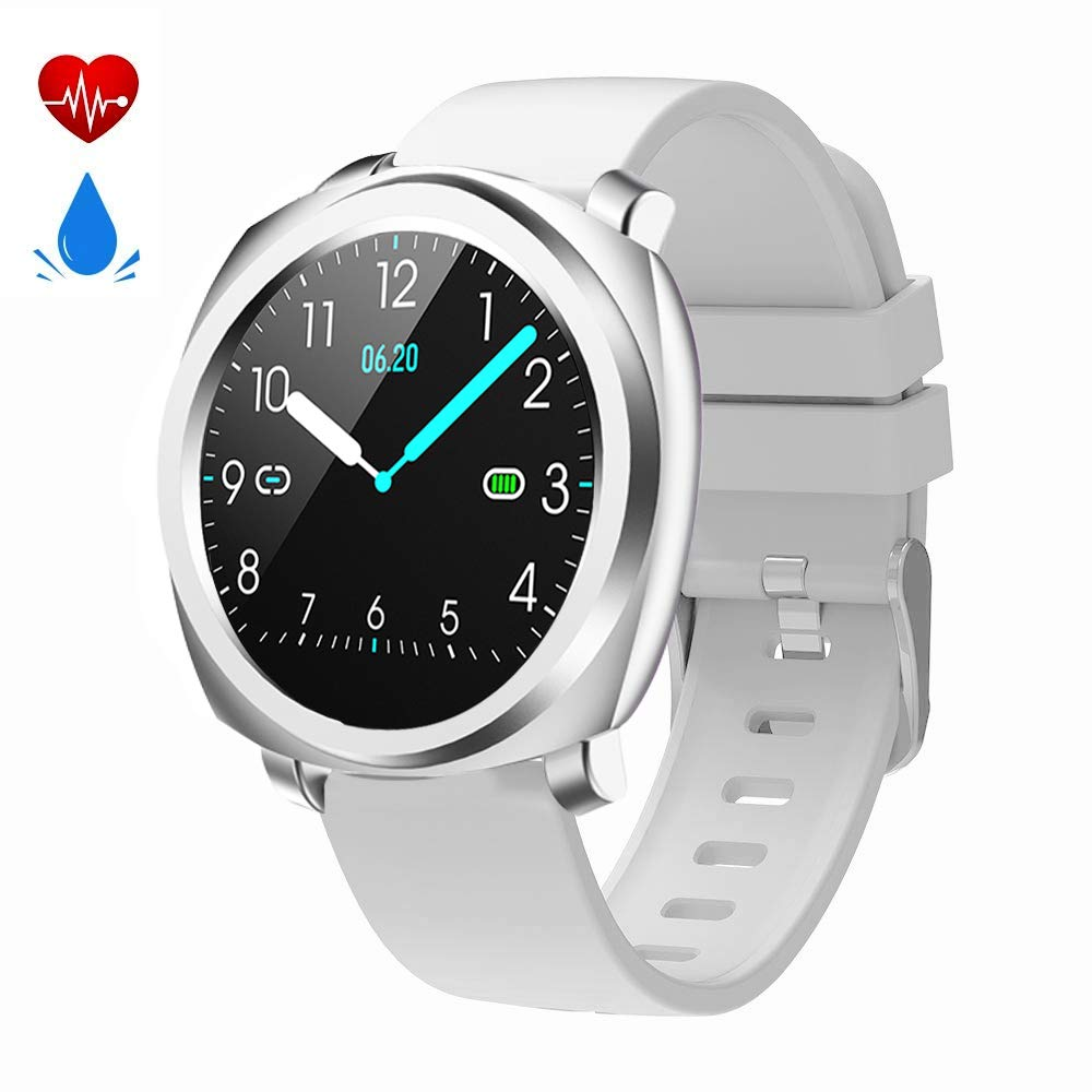 feifuns Fitness Tracker Smart Watch,Waterproof Fitness Watch Activity Tracker with Heart Rate Monitor,Sleep Monitor Step Counter Pedometer Watch for Men Women Kids,Long Battery Life (Grey-02)