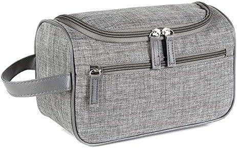 トラべラブ圧縮バッグ 男性と女性の旅行スクラブ洗浄化粧品防水バスバッグ旅行ポータブル収納袋 トラベルポーチ 出張 旅行 便利グッズ (Color : Gray, Size : Free size)