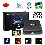 MiiU (TM) M8S Amlogic S812 Quad Core 4K High Def Video Resolution Kodi Xbmc Tv Box Android 4.4 Kitkat H.265 Wifi LAN Miracast Airplay Hdmi 2G RAM 8G ROM