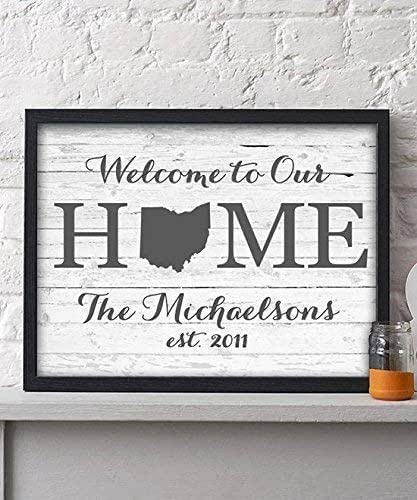 Amazon.com: Welcome Home Paper Art Print