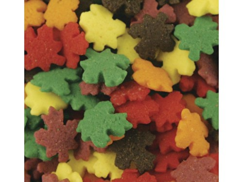 Fall Leaves Shapes Bakery Topping Sprinkles 1 pound by Kerry