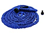 Coventry Retailer 100ft Expanding Garden Hose Pipe with 7 Function Spray Gun and Garden Tap Connector - Specially Manufactured to a higher Tough Specification - Inner Hose is Strong Double Latex, Outer Hose is Rugged Polyester Silk Webbing - Expands up to 3 Times its Original Length - Lightweight and No more Kinking - Shrinks like Magic for Easy Storage.