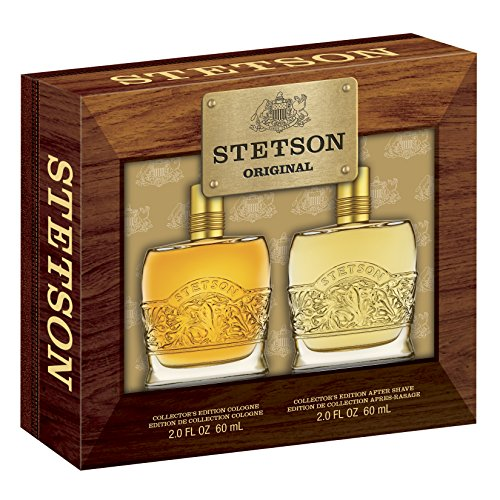 STETSON 2 PC. GIFT SET ( COLOGNE 2.0 oz + AFTERSHAVE 2.0 oz ) by Coty for Men (Stetson Gift Set)