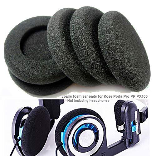 "6pcs 2"" Earphone Ear Pads Sponge Foam Pads Cushions for Koss Porta Pro PP PX100 for Sony Sennheiser Philips AKG Headphones 50mm Foam Ear pad (Black)"