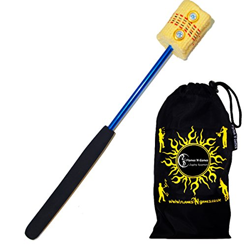 Professional Fire BREATHING Wand - Quality Kevlar Wick for Fire Breathing + Travel Bag!