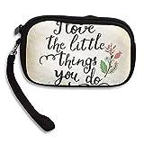 CMTRFJ Unisex Wallet for Woman Ladies -Enjoy-The-Little-Things Purse Bag Men Gentlemen