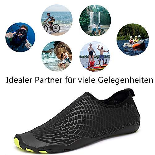 Soles De Agua Negro Rápido Calzado Playa Lekuni Unisex Color Secado Zapatos Natación zzw Piscina Respirable qzwKAyTa