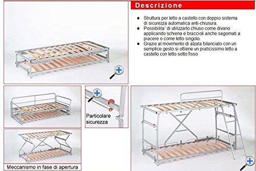 Ponti Divani - SUITE - Divano letto a castello con meccanismo ...