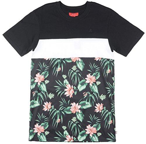 Asphalt Yacht Club Palm Tri Block Mens T-Shirt In Black