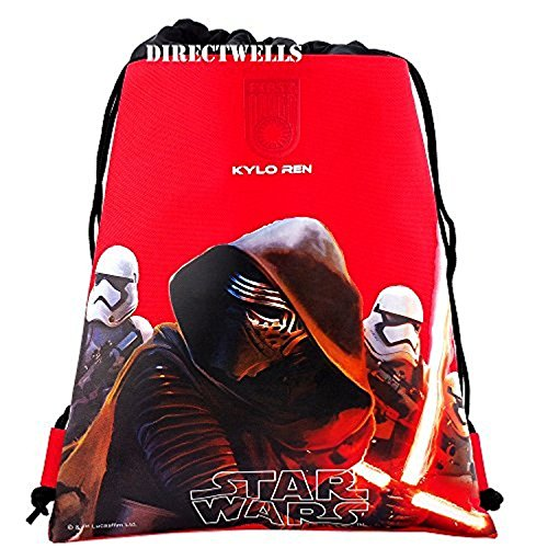 Backpack Drawstring All Star - Disney Star Wars Authentic Licensed Drawstring Bag Backpack (Red)