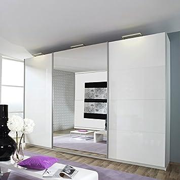 Kleiderschrank »BELUGA PLUS« 360cm alpinweiß, Hochglanz weiß ... | {Kleiderschrank weiß hochglanz mit spiegel 75}
