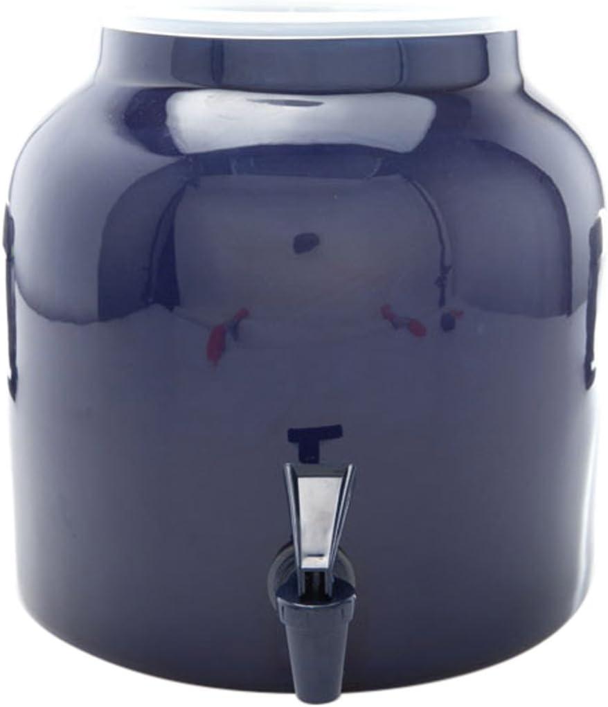 Bluewave Lifestyle PKDS121 Beverage Dispenser Crock, Solid Blue Design, 2.2 Gallon, 1 Ct.