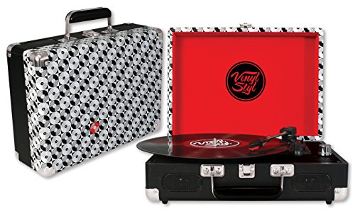 Vinyl Styl Groove Portable 3 Speed Turntable (Record Pattern)