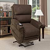 Seven Oaks Power Lift Recliner for Seniors | Electric Chair for the Elderly with Heated Massage | Adjustable Controls & Full Range of Motion | Soft Microfiber | (Model # CHOCMICNLHD)