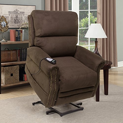 Seven Oaks Power Lift Recliner for Seniors | Electric Chair for the Elderly with Heated Massage | Adjustable Controls & Full Range of Motion | Soft Microfiber | (Model # CHOCMICNLHD) by Seven Oaks