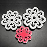 NBellShop 3Pcs Plum flower Fondant Cake Embosser Mold Cake Decorating Tools