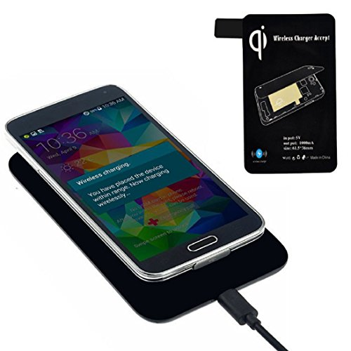 AutumnFall® Qi Standard Wireless Charger + Receiver Tag For Samsung Galaxy S5 I9600 G900