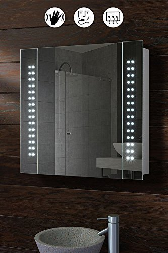 my furniture 60 led illuminated bathroom cabinet mirror sensor