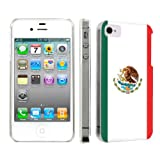 Apple iPhone 4 or 4s Ultra Slim Light Weight Plastic Cover Case By SkinGuardz - Mexican Flag