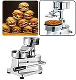 Li Bai Commercial Hamburger Patty Press Maker Stainless Steel Hamburger Press Machine 130mm/5.1'' Includes 500 Patty Papers