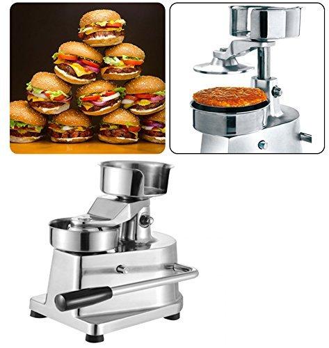 Li Bai Commercial Hamburger Patty Press Maker Stainless Steel Hamburger Press Machine 130mm/5.1'' Includes 500 Patty Papers by Li Bai (Image #7)