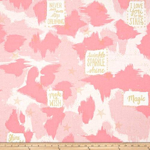 Michael Miller Sarah Jane Magic Metallic You Are Magic Pink Fabric By The Yard