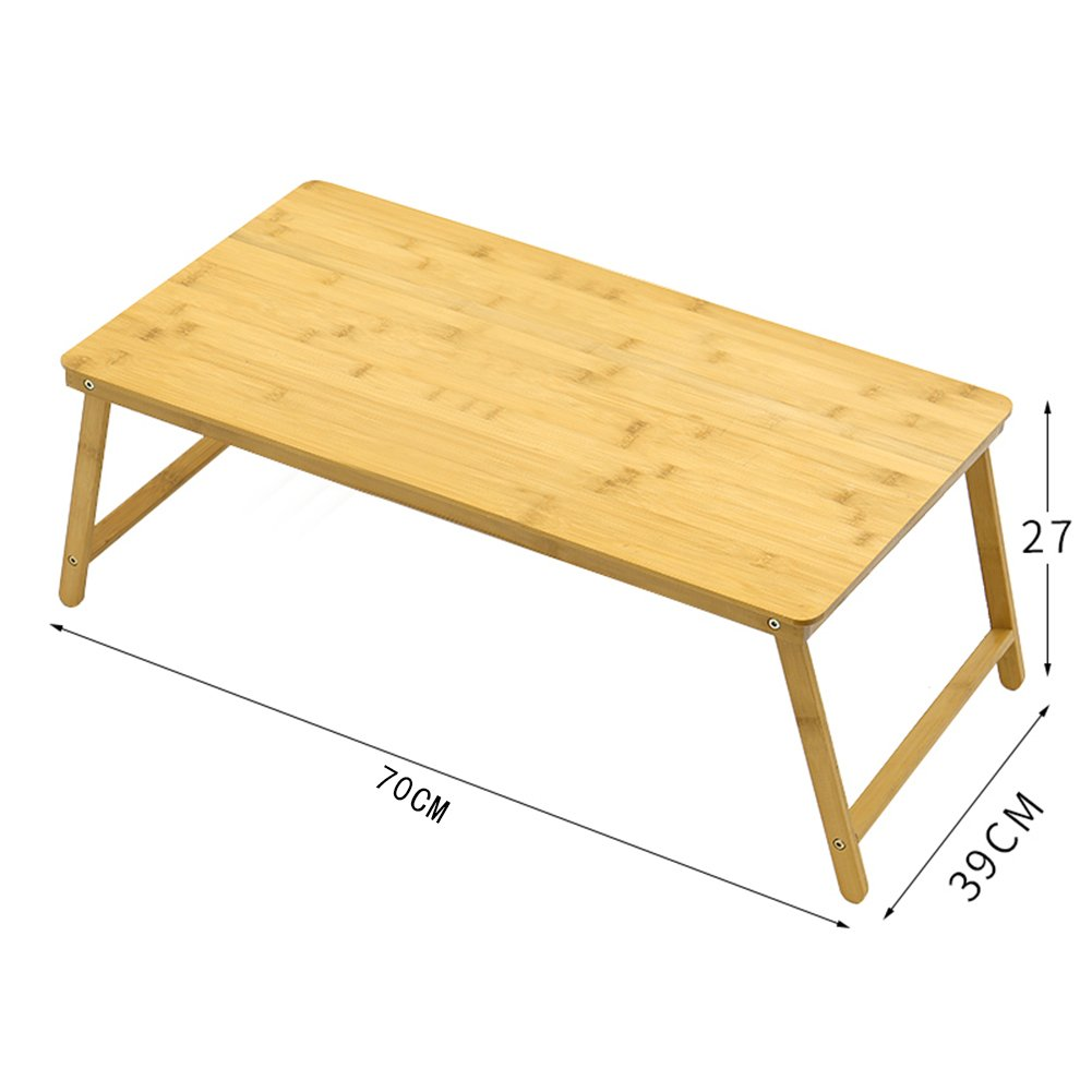 PENGFEI Solid Wood Laptop Stand for Desk Foldable Portable Bed Table College Students Dorm Room Learn Read Solid Wood, 3 Sizes (Color : 70x39x47CM) by PENGFEI-xiaozhuozi (Image #2)