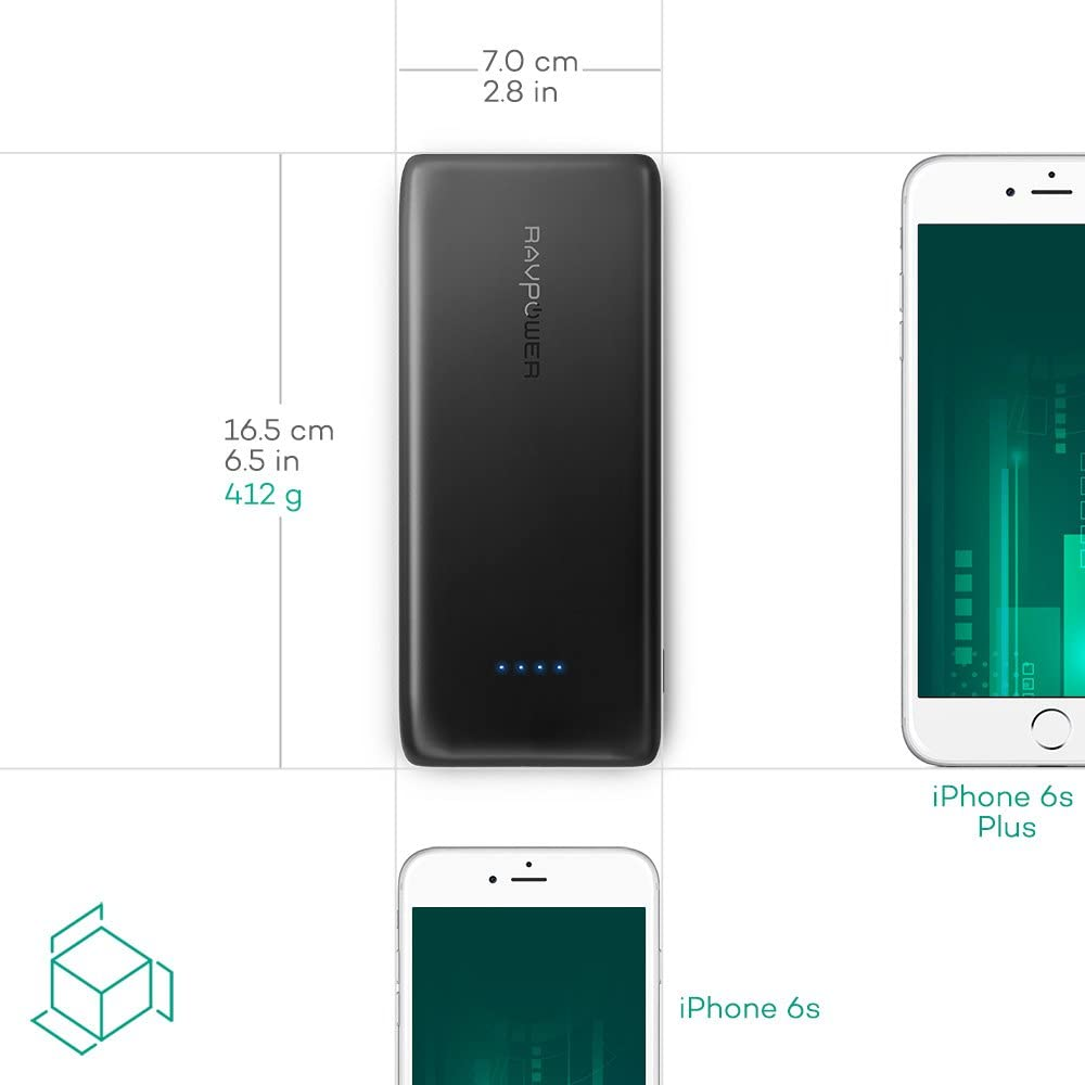 Samsung Galaxy and More RAVPower Portable Charger 22000mAh External Battery Pack 22000 Power Banks 5.8A Output 3-Port, Compatible with iPhone 11//Pro//Max// 8// X//XS