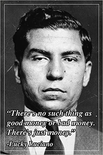HSE Motivational Quote Poster Lucky Luciano American Mobster 24X36 Humorous  New - 2 to 5 Days Shipping from USA