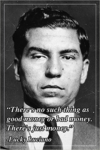 motivational quote poster LUCKY LUCIANO american mobster 24X36 humorous NEW  - 2 TO 5 DAYS SHIPPING FROM USA