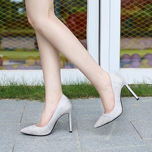 Dorado JESSI Mujer de para Alto Zapatillas tacón MAIERNISI 10aHqww
