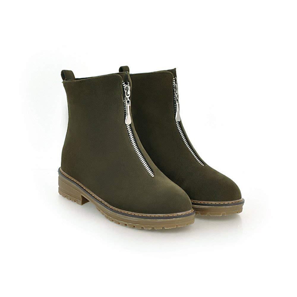 Damenstiefel College-Style Warm Hohe Schuhe Weite Reißverschluss-Martinstiefel Große Große Große Kurzstiefel 36-43 078a55