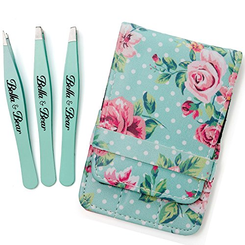 Eyebrow Tweezers by Bella and Bear - The Tweezers Set for Professional Shaping by Bella and Bear (Image #5)