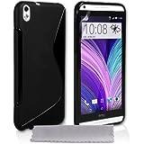 Caseflex HTC Desire 816 Case Black Silicone S-Line Cover