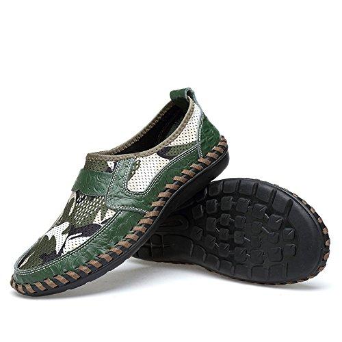 Color 45 tessuto uomo Verde Mocassini Tacco Blu Yajie Loafer Make antiscivolo in mesh Design Dimensione EU unico 2018 in shoes You traspirante in gomma Uomo da da piatto q84BpO