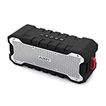 AUKEY Bluetooth Speaker Dual-Driver 30-Hour Battery Life, Waterproof and Shock-Resistant, Enhanced Bass Portable Wireless Speakers for Party, Bicycle and Outdoor, Bulit-in Mic for Echo Dot
