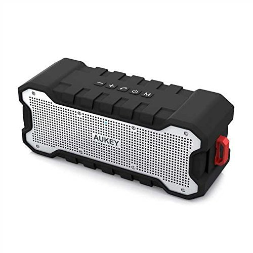 AUKEY Bluetooth Speaker Dual-Driver 30-Hour Battery Life, Waterproof and Shock-Resistant, Enhanced Bass Portable Wireless Speakers for Party, Bicycle and Outdoor
