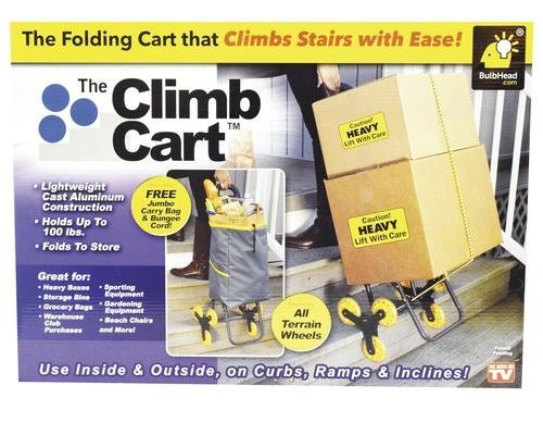 AS SEEN ON TV Tough Reliable Super Handy All Terrain Very Affordable Must Have Stair Climbing Cart - 75lb Capacity with Detachable Bag - Ideal for Transporting Items Easily up Stairs Without A Ramp