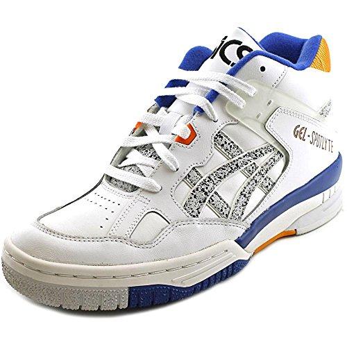 Asics Men's Gel-Spotlyte White/Marble Ankle-High Leather Basketball Shoe - 10M