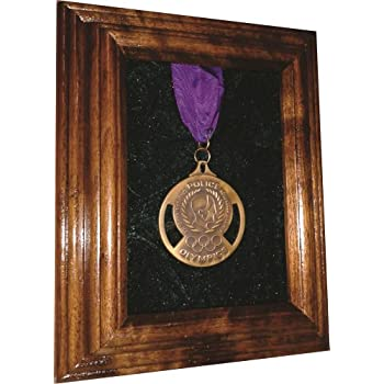 Amazon.com - Single or Double Medal Awards Display Case (Black ...
