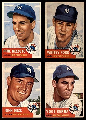Amazoncom 1953 Topps New York Yankees Team Set New York Yankees