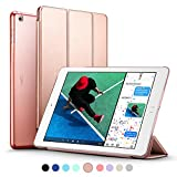 New iPad 2017 iPad 9.7 inch Case, ESR Ultra Slim Lightweight Smart Case Trifold Stand with Auto Sleep/Wake Function, Microfiber Lining, Hard Back Cover for Apple New iPad 9.7-inch,Rose Gold