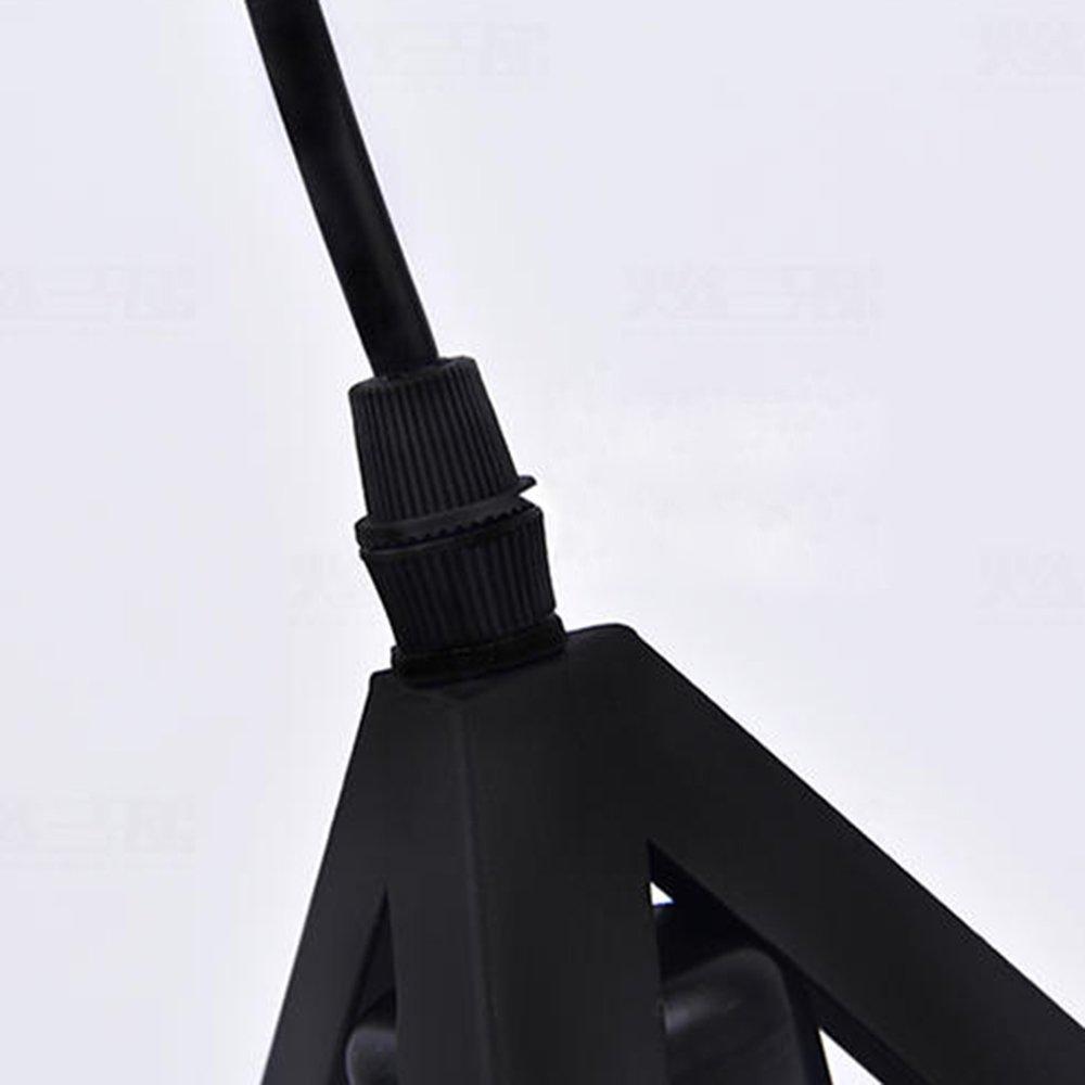 Cikuso Triple-coince Eclairage Plafond Abat-jour et cadre suspendu Metal industriel Lustre reglable