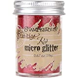 Stampendous, Micro Glitter, Red
