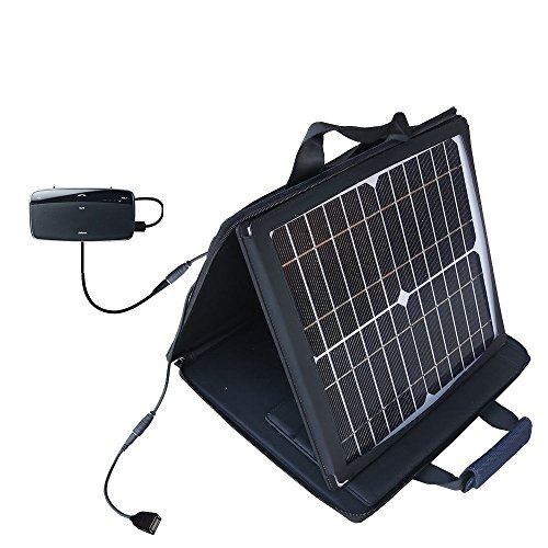 Jabra-Cruiser-II-compatible-SunVolt-Portable-High-Power-Solar-Charger-by-Gomadic-Outlet-speed-charge-for-multiple-gadgets
