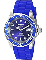 Invicta Mens Pro Diver Automatic Stainless Steel and Silicone Diving Watch, Color:Blue (Model: 23679)