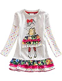 Winter Toddler Girl Clothes Cotton Long Sleeve Girls Dresses for Kids 2-8 Years